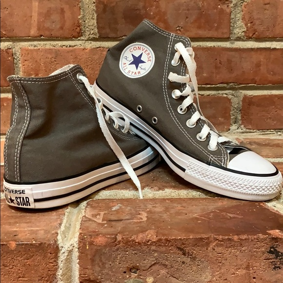 Gray Converse All Star hi tops Size 7 men's